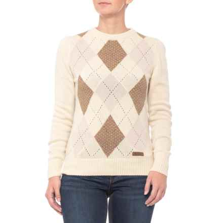 Barbour Badminton Lambswool-Cotton Sweater (For Women) in White - Closeouts