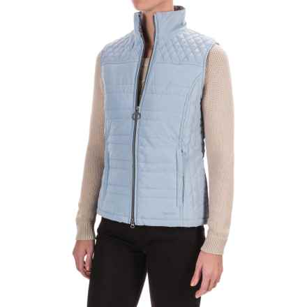 Barbour Badminton Quilted Vest - Insulated (For Women) in Pale Blue - Closeouts