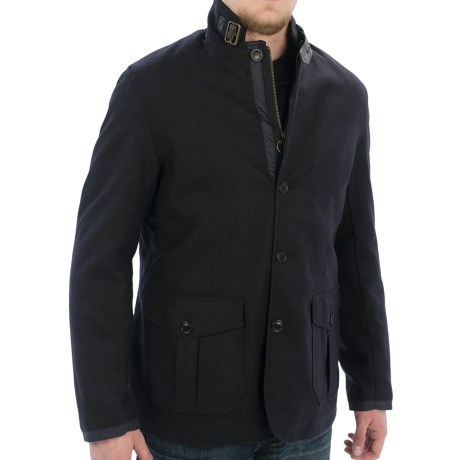 Barbour Barkston Jacket - Wool Blend (For Men) in Navy