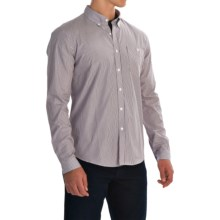 Barbour Bartley Shirt - Cotton, Long Sleeve (For Men) in Navy Stripe - Closeouts
