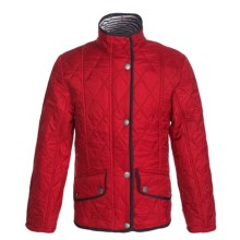 Barbour Beach Diamond Quilted Jacket (For Girls) in Red - Closeouts