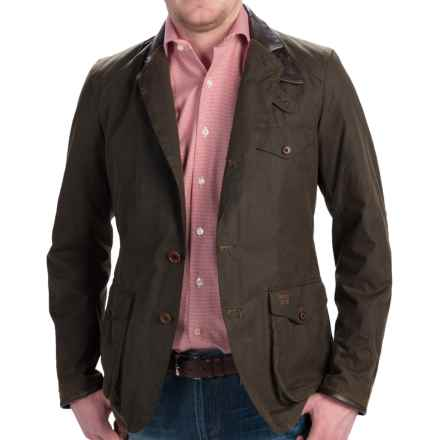 Barbour Beacon Sports Jacket - 6 oz. Sylkoil Waxed Cotton (For Men) in Olive - Closeouts