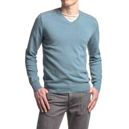 Barbour Bearsden Sweater - V-Neck (For Men) in Chambray Blue - Closeouts