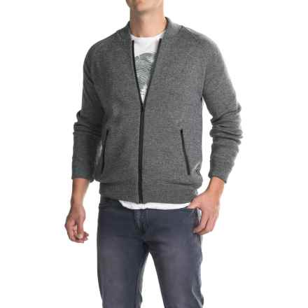 Barbour Becket Sweater - Full Zip (For Men) in Grey - Closeouts