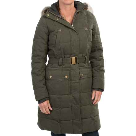 Barbour Belton Diamond-Quilted Coat (For Women) in Olive/Classic - Closeouts