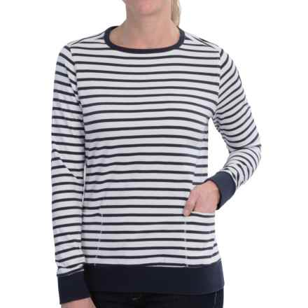 Barbour Berkley Sweatshirt (For Women) in Navy - Closeouts