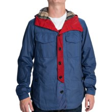 Barbour Bi-Col Waxed-Cotton Jacket (For Men) in Cadet - Closeouts