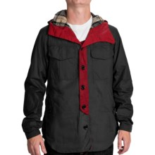 Barbour Bi-Col Waxed-Cotton Jacket (For Men) in Navy - Closeouts