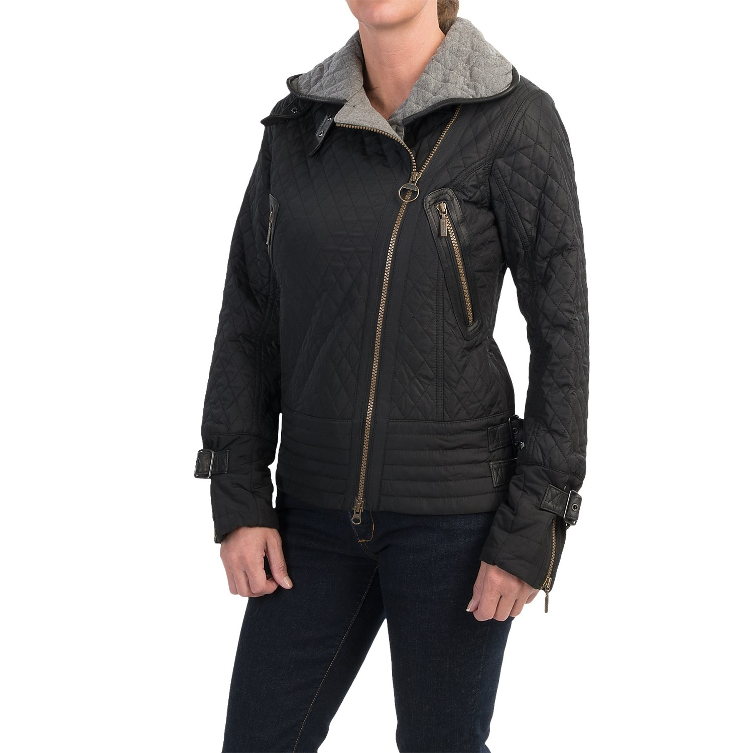 Barbour Blackwatch Quilted Jacket (For Women) in Black/Grey. Click to expand