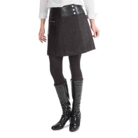 Barbour Blade Basket-Weave Skirt - Knee Length (For Women) in Black - Closeouts