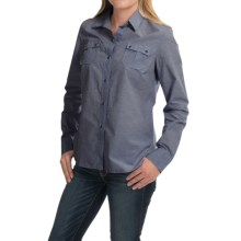 Barbour Blazey Cotton Shirt - Long Sleeve (For Women) in Chambray - Closeouts