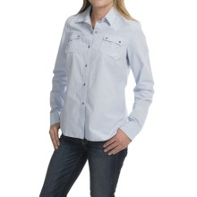 Barbour Blazey Cotton Shirt - Long Sleeve (For Women) in Light Blue - Closeouts