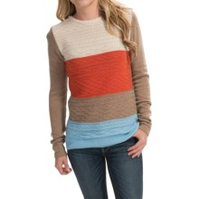 Barbour Bowlam Sweater (For Women) in Mocha Bisque - Closeouts