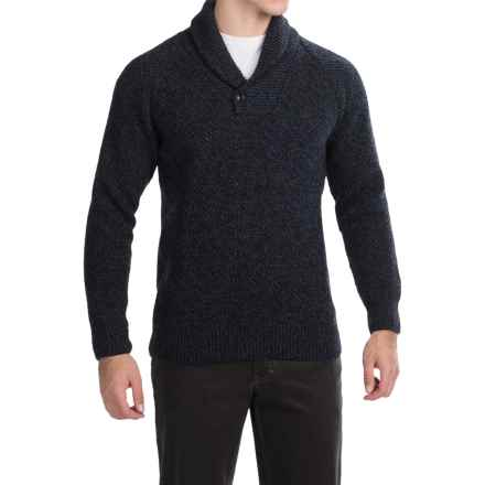 Barbour Bransfield Sweater - Lambswool (For Men) in Navy - Closeouts