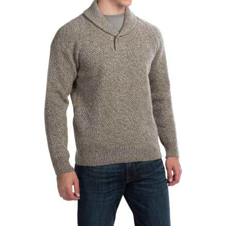 Barbour Bransfield Sweater - Lambswool (For Men) in Sandstone - Closeouts
