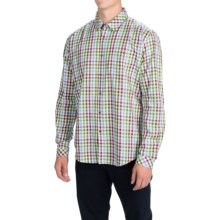 Barbour Bribton Check Dress Shirt - Long Sleeve (For Men) in Lawn - Closeouts