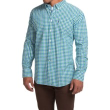 Barbour Bruce Shirt - Regular Fit, Long Sleeve (For Men) in Nevada Green Check - Closeouts