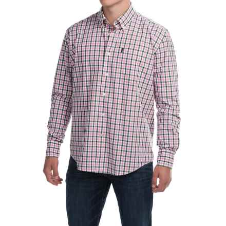 Barbour Bruce Shirt - Regular Fit, Long Sleeve (For Men) in Olive Check - Closeouts