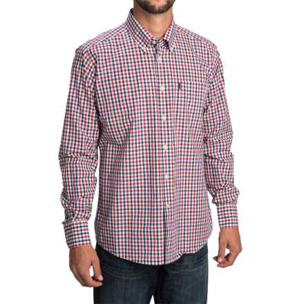 Barbour Bruce Shirt - Tailored Fit, Long Sleeve (For Men) in Navy Check - Closeouts