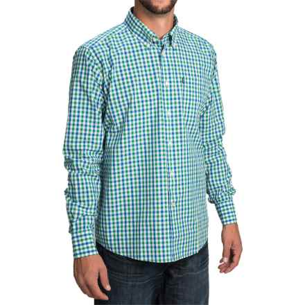 Barbour Bruce Shirt - Tailored Fit, Long Sleeve (For Men) in Nevada Green Check - Closeouts