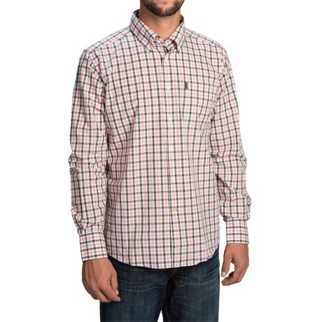 Barbour Bruce Shirt - Tailored Fit, Long Sleeve (For Men) in Olive Check