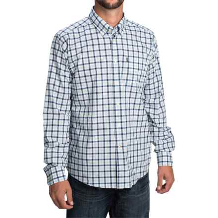 Barbour Bruce Shirt - Tailored Fit, Long Sleeve (For Men) in Sea Blue Check - Closeouts