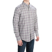 Barbour Brushed Cotton Shirt - Long Sleeve (For Men) in Plum, Aberton - Closeouts