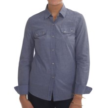 Barbour Budock Cotton Shirt - Long Sleeve (For Women) in Chambray - Closeouts