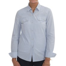 Barbour Budock Cotton Shirt - Long Sleeve (For Women) in Light Blue - Closeouts