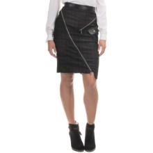 Barbour Buell Zip Skirt - Leather Trim (For Women) in Black - Closeouts