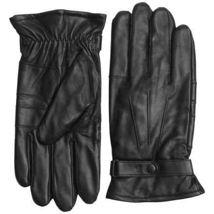 Barbour Burnished Leather Gloves (For Men) in Black - Closeouts