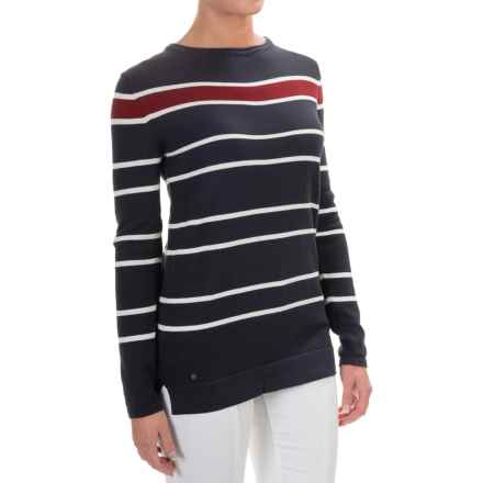 Barbour Burnmouth Sweater (For Women) in Navy/Snow - Closeouts