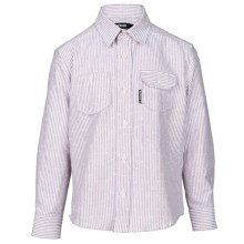 Barbour Button Front Cotton Shirt - Long Sleeve (For Boys) in Crimson Stripe, Fuel - Closeouts