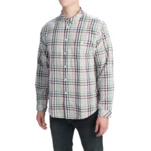 Barbour Button-Front Cotton Shirt - Long Sleeve (For Men) in Off White, Caldew - Closeouts