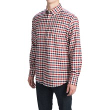 Barbour Button-Front Cotton Shirt - Long Sleeve (For Men) in Red Check, Moss - Closeouts