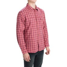 Barbour Button-Front Cotton Shirt - Long Sleeve (For Men) in Red, Hillberry - Closeouts