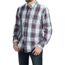 Barbour Button-Front Cotton Shirt - Long Sleeve (For Men) in White, Blencarn - Closeouts
