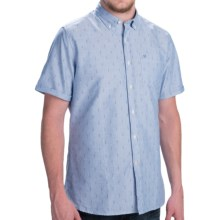 Barbour Button-Front Cotton Shirt - Short Sleeve (For Men) in Marine Blue Anchor Print, Stormer - Closeouts