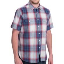 Barbour Button-Front Cotton Shirt - Short Sleeve (For Men) in Navy, Altona - Closeouts