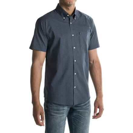 Barbour Button-Front Cotton Shirt - Short Sleeve (For Men) in Navy - Closeouts