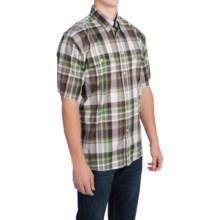 Barbour Button-Front Cotton Shirt - Short Sleeve (For Men) in Purple, Cornwood - Closeouts