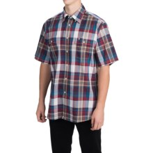 Barbour Button-Front Cotton Shirt - Short Sleeve (For Men) in Red, Cornwood - Closeouts