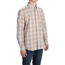 Barbour Button-Front Cotton Sport Shirt - Long Sleeve (For Men) in Amber Check, Bibury - Closeouts