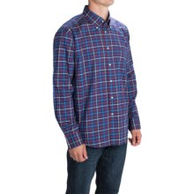 Barbour Button-Front Cotton Sport Shirt - Long Sleeve (For Men) in Ink, Beckfoot - Closeouts