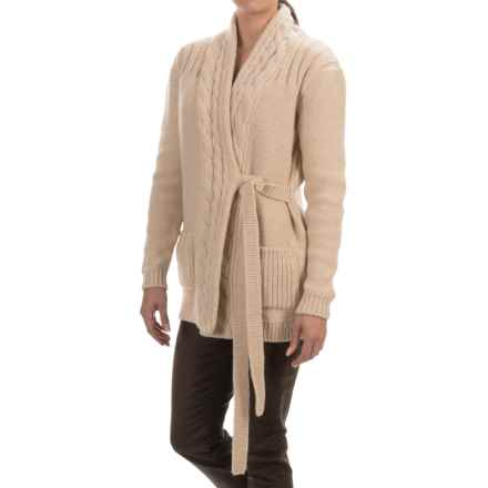 Barbour Carter Wrap Cardigan Sweater (For Women) in Camel - Closeouts