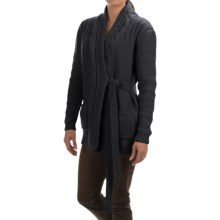 Barbour Carter Wrap Cardigan Sweater (For Women) in Navy - Closeouts