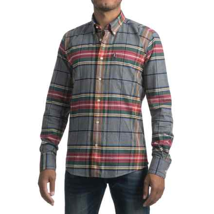 Barbour Castlebay Shirt - Tailored Fit, Long Sleeve (For Men) in Grey - Closeouts