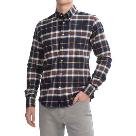 Barbour Castlebay Shirt - Tailored Fit, Long Sleeve (For Men) in Navy - Closeouts