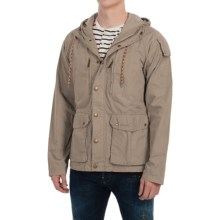 Barbour Casual Helmswater Cotton Paper Touch Jacket (For Men) in Mushroom - Closeouts