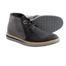 Barbour Casual Lace-Up Shoes - Leather (For Men) in Black, Rawdon - Closeouts